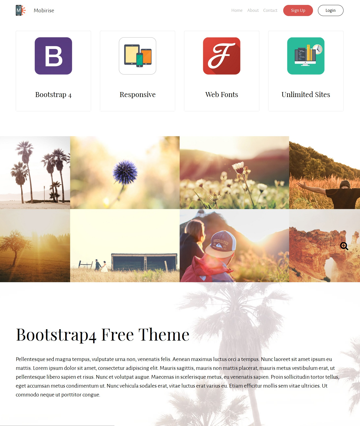 Mobile Bootstrap Landing Page Theme