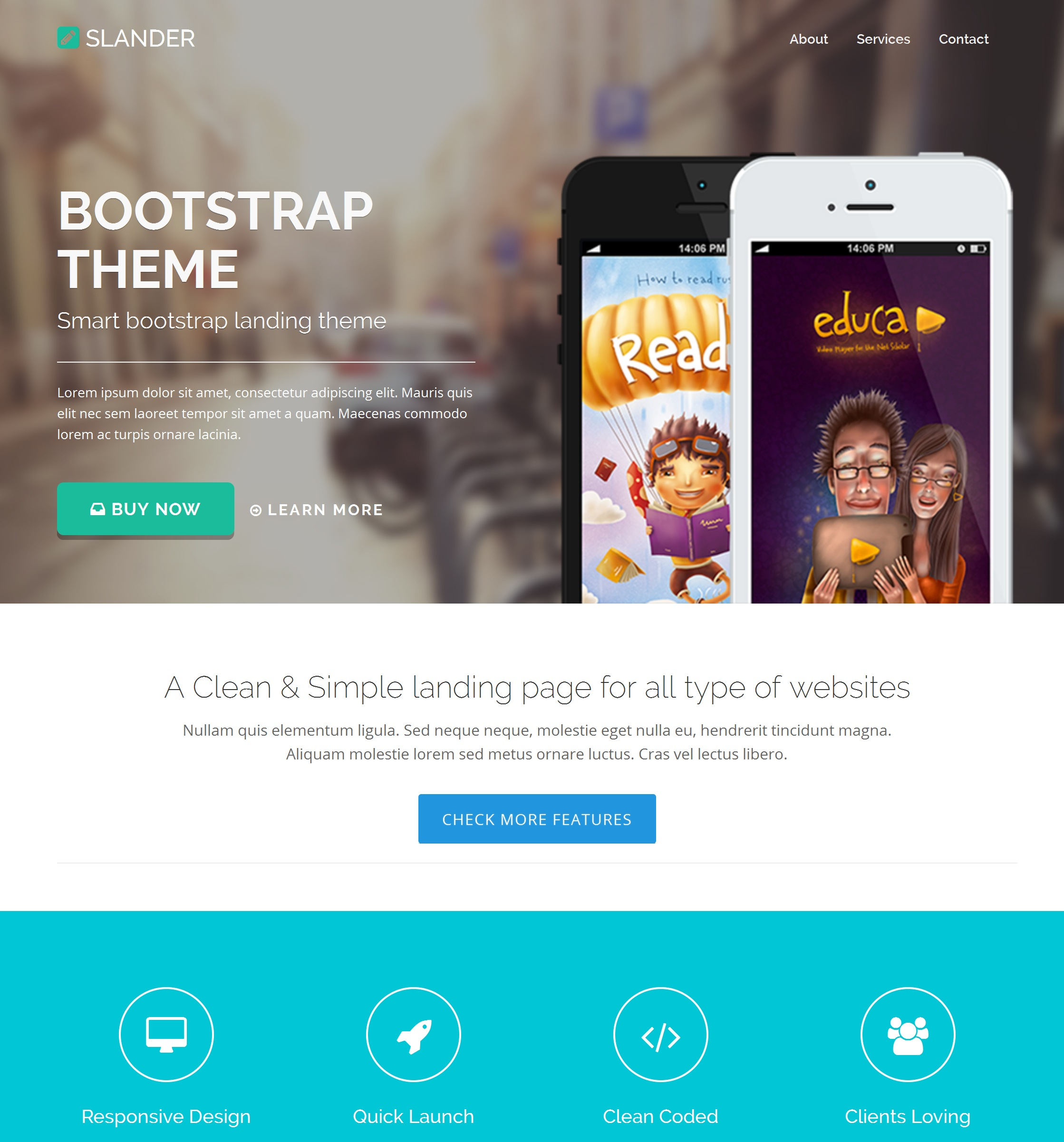 Mobile Bootstrap Blog Theme