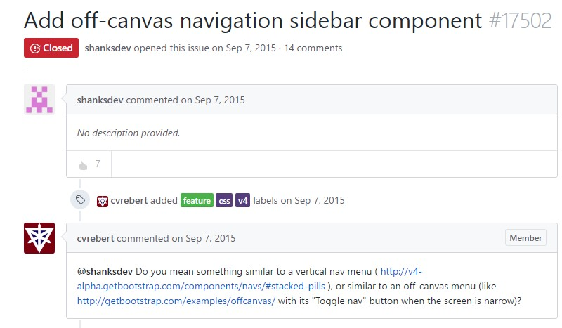 Incorporate off-canvas navigation sidebar component