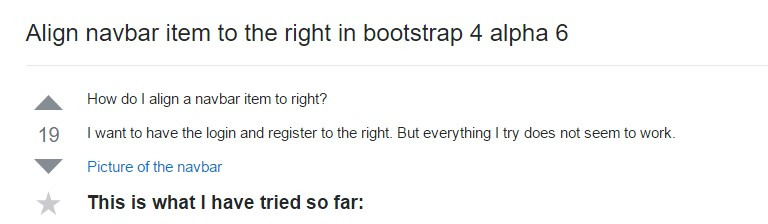 Line up navbar  thing to the right in Bootstrap 4 alpha 6
