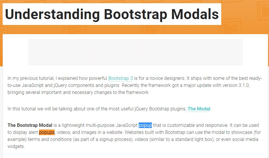 An additional  helpful article about Bootstrap Modal Popup